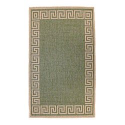 Greek Key Indoor/ Outdoor Area Rug (3'11 x 5'6)