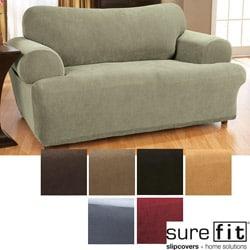 Stretch Waffle T-cushion Sofa Slipcover