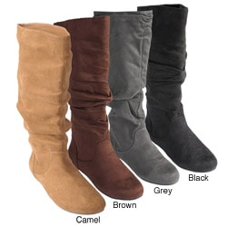 Bamboo by Journee Women&#39;s Slouchy Microsuede Boots