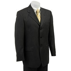 Carlo Palazzi Men's Grey Herringbone Wool Suit