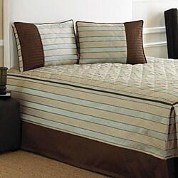 Rivington Blue/ Beige Fitted Bedspread