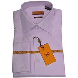 Enzo Tovare Men's Lavender French Cuff Twill Dress Shirt