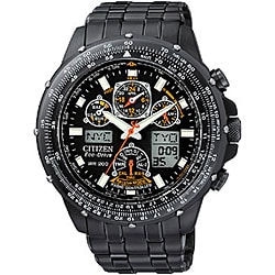 Citizen Eco-Drive Skyhawk A-T Men's Black Steel Watch