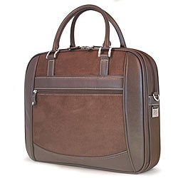 Mobile Edge ScanFast Brown Suede Laptop Case