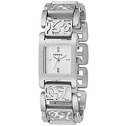 Fossil Women's Silver and Leather Watch