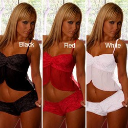 Illusions Women's Sheer Babydoll Crop Top