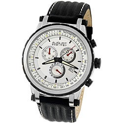 August Steiner Men's White Dial Quartz Chronograph Watch