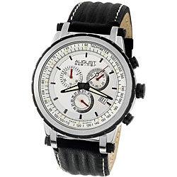 August Steiner Men's White Dial Quartz Chronograph Watch