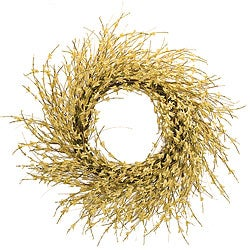 Large Light Yellow Forsythia Wreath