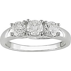 14k Gold 1ct TDW 3-stone Diamond Engagement Ring (H-I, I1-I2)