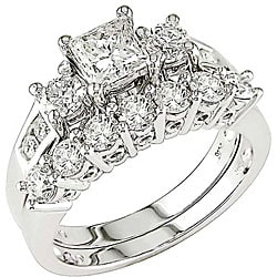 14k White Gold 1 4/5ct TDW Diamond Bridal Ring Set (HI, I1-I2)