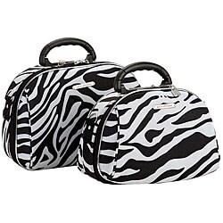 Luca Vergani Zebra 2-piece Cosmetic Case Set