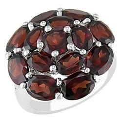 Miadora Sterling Silver Garnet Ring