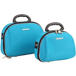 Luca Vergani Turquoise 2-piece Cosmetic Case Set