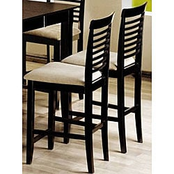Cappuccino Ladder Back Counter Stools (Set of 2)