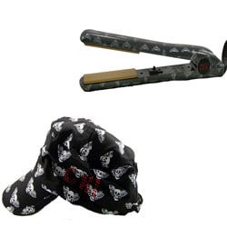 Farouk CHI Skull Angel Flat Iron with Free Hat