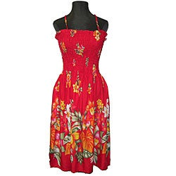 Hibiscus Collection Women's Red Hawaiian Dress