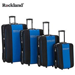 Rockland Polo Equipment Blue/Black 4-piece Luggage Set