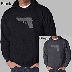 Los Angeles Pop Art Men's Gun Hooded Sweatshirt