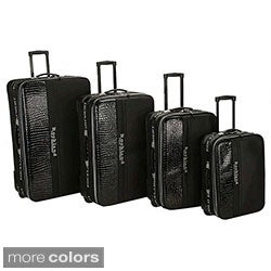 Rockland Polo Crocodile 4-piece Luggage Set