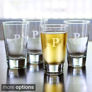 Personalized Glass Pint Tumblers (Set of 4)