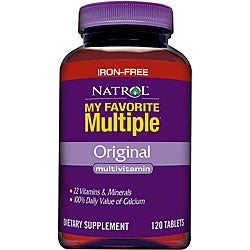 Natrol My Favorite Multiple without Iron (Pack of 2 120-count Bottles)