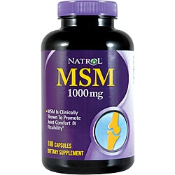 Natrol MSM 1000mg Pills (Pack of 2 180-count Bottles)