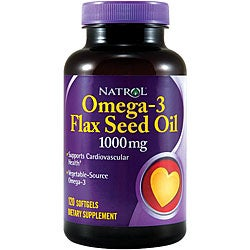 Natrol Flax Seed Oil 1000mg Softgels (Pack of 4 120-count Bottles)