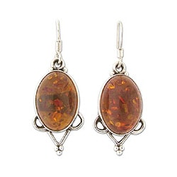 Amber 'Summer Warmth' Dangle Earrings (India)