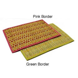 Set of Four Woven Grass Placemats (India)