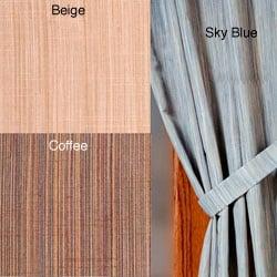 Dania Stripe Faux Silk Curtain Panel