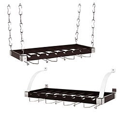 Charcoal Grey 8-bottle Wood Wine Rack