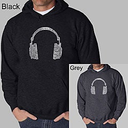 Los Angeles Pop Art 'Headphones' Men's Hooded Sweatshirt