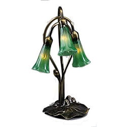 Lily 3-light Green Lamp