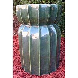 Lotus Lan Green Ceramic Garden Stool