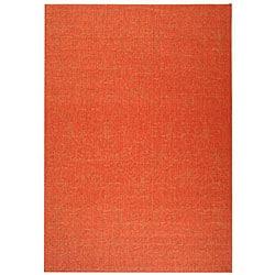 Safavieh Indoor/ Outdoor St. Barts Red Rug (5'3 x 7'7)