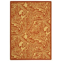 Indoor/ Outdoor Acklins Natural/ Terracotta Rug (4' x 5'7)
