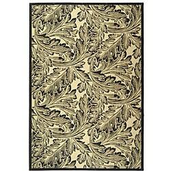 Safavieh Indoor/ Outdoor Acklins Sand/ Black Rug (7'10 x 11')
