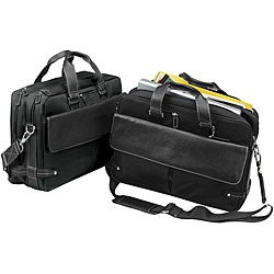 Biltmore Black Leather Briefcase Laptop Case