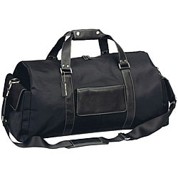 Biltmore Deluxe Black Leather Italian-style 22-in. Carry-on Duffel Bag