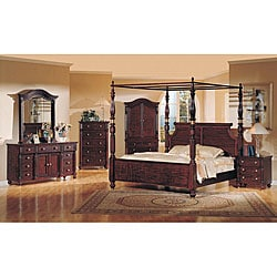 eden 4 piece poster canopy king size bedroom set
