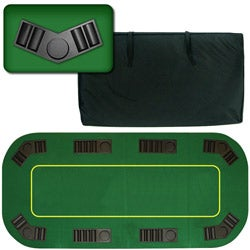 Texas Holdem Folding 80-inch Poker Tabletop