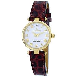 Le Chateau Women's Genuine Diamond Watch