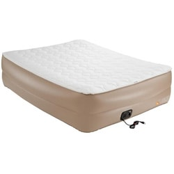 Coleman Queen Raised Pillow-Top QuickBed Air Bed with Mattress Pad and Electric Pump