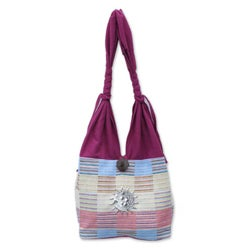Cotton 'Siamese Blush' Handbag (Thailand)