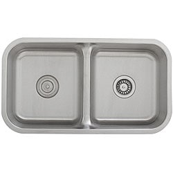 Ticor Stainless Steel 16-gauge Low Divide Undermount Kitchen Sink