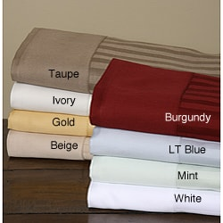 Egyptian Cotton 300TC Solid Hem Striped Sheet Set