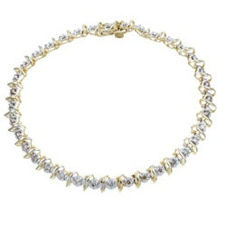 10k Yellow Gold 1ct TDW Diamond Bracelet (J-K, I2)