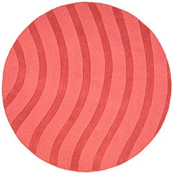 Rose Waves Wool Rug (8' Round)