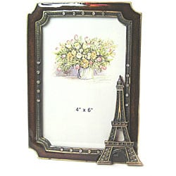 Eiffel Tower Picture Frames on Amber Eiffel Tower 4x6 Photo Frame   Overstock Com